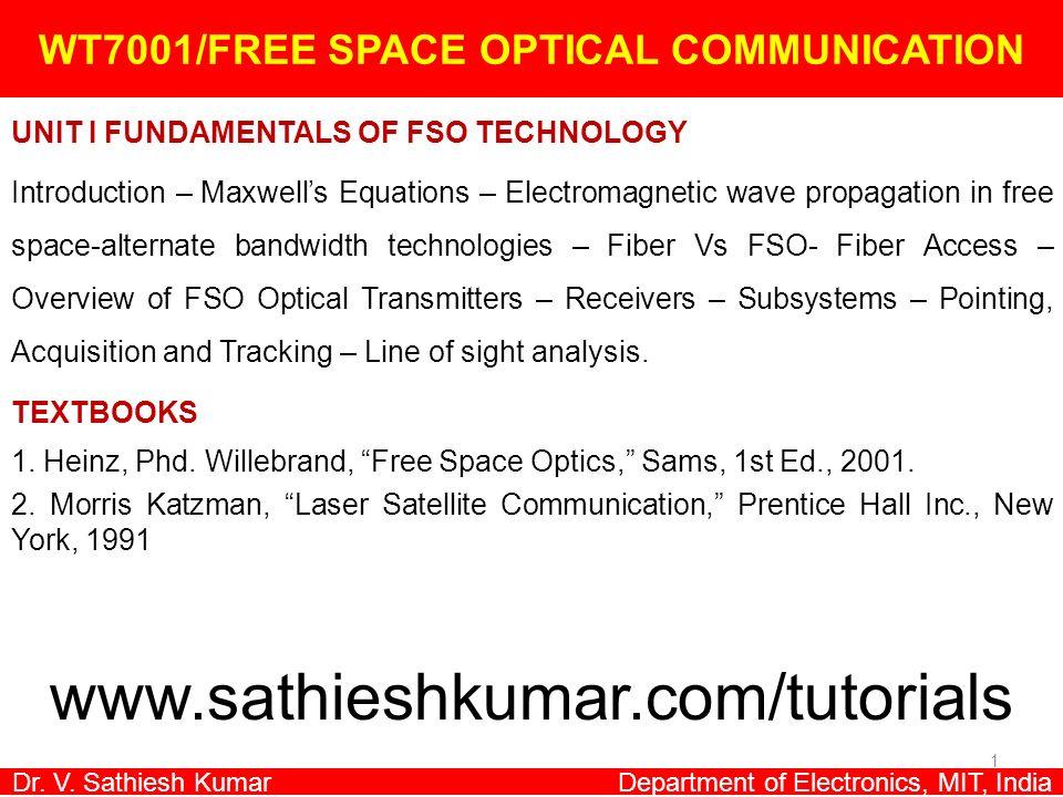 WT7001/FREE SPACE OPTICAL COMMUNICATION