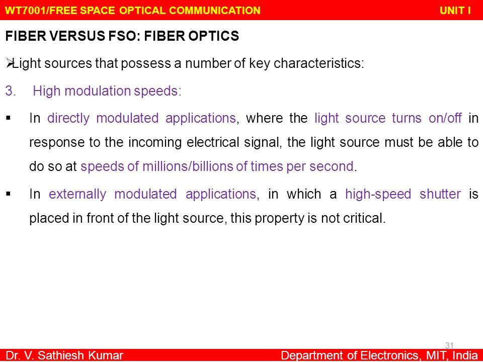 WT7001/FREE SPACE OPTICAL COMMUNICATION UNIT I