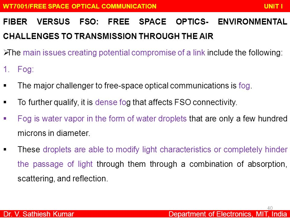 WT7001/FREE SPACE OPTICAL COMMUNICATION UNIT I