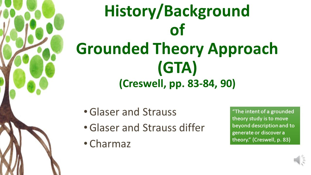grounded theory The discovery of grounded theory strauss and corbin 1990 basics of qualitative research goals and perspective the phrase grounded theory refers to theory that is developed inductively from a corpus of data if done well, this means that the resulting theory at least fits one dataset perfectly.