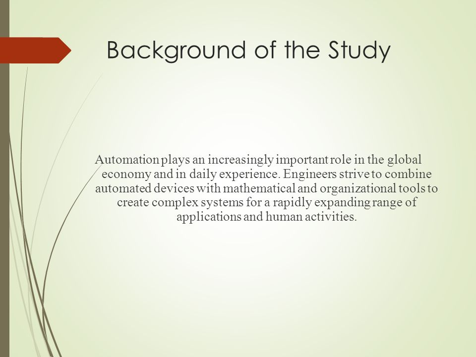 Example of background of the study - answers.com