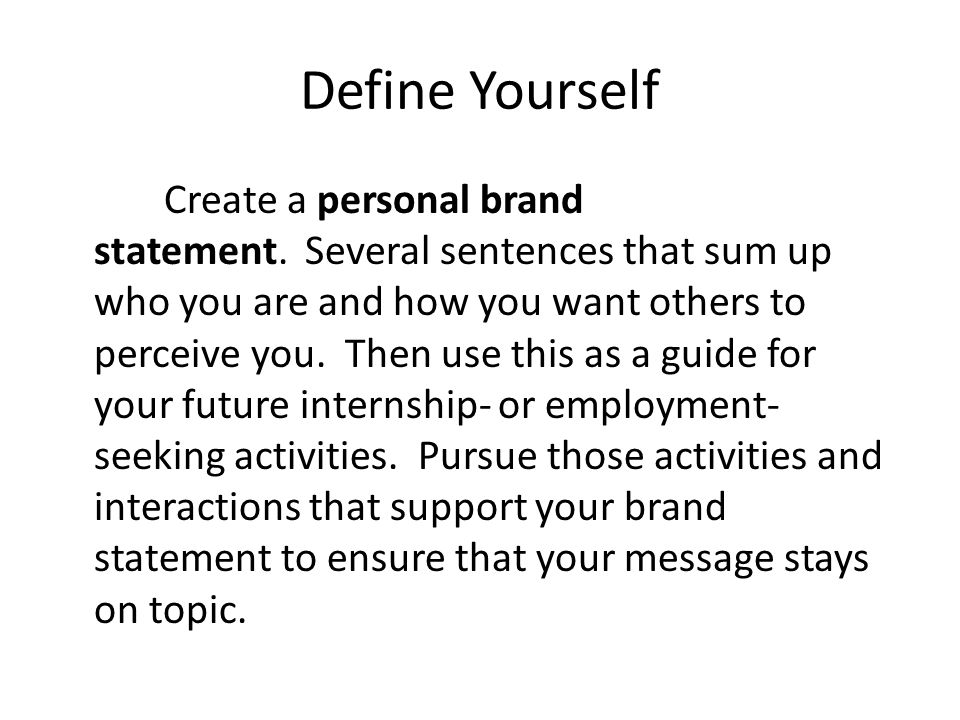 Branding Yourself. - Ppt Video Online Download