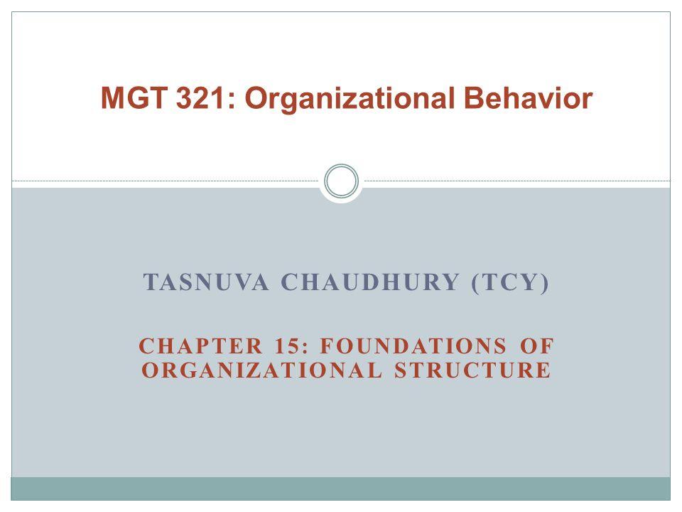 MGT 321: Organizational Behavior