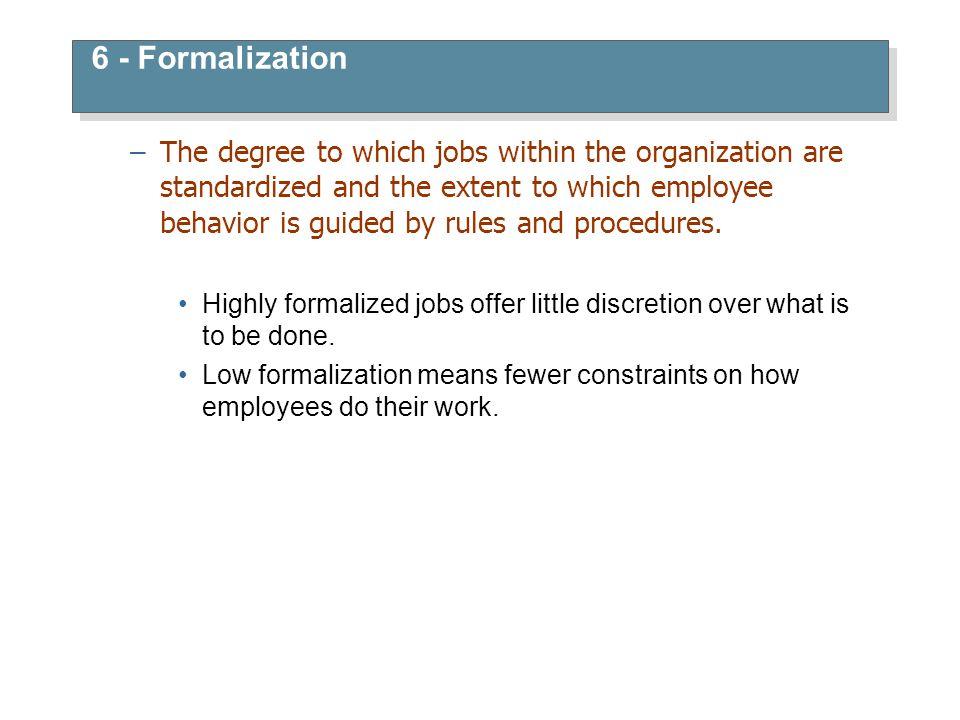 6 - Formalization