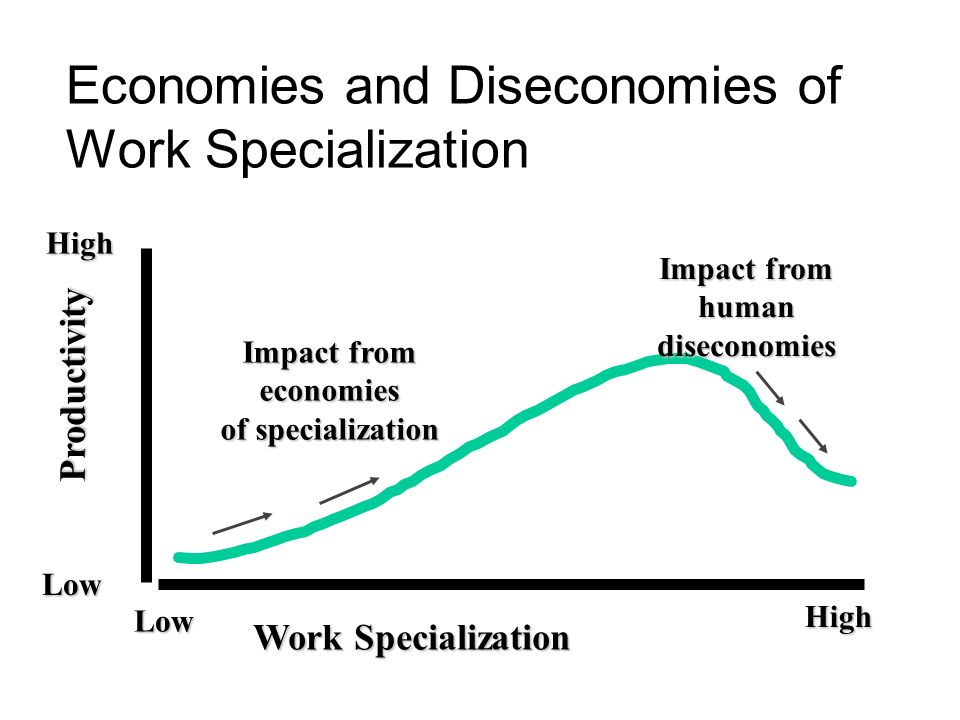 Economies and Diseconomies of Work Specialization