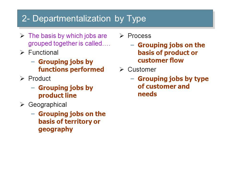 2- Departmentalization by Type