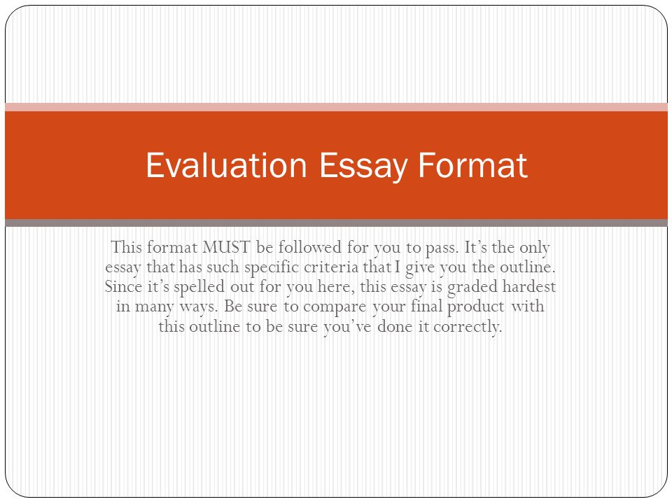 How to write a film evaluation essay