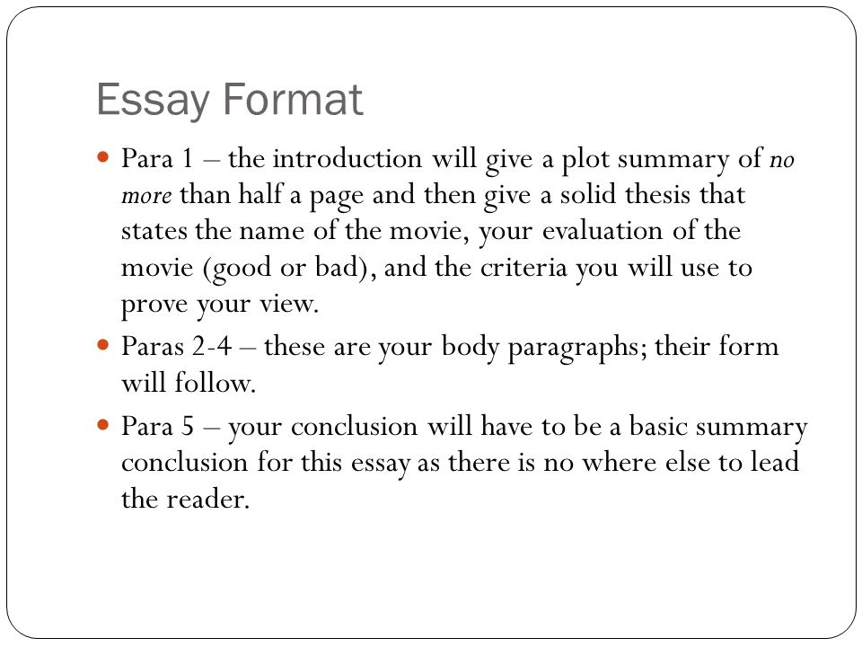 introduction to essay about a movie An essay introduction example if you are still unsure about your introduction, our essay editors would love to movie buffs and bookworms can tell a.