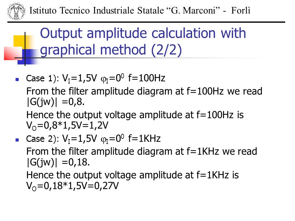 Output amplitude calculation with graphical method (2/2)