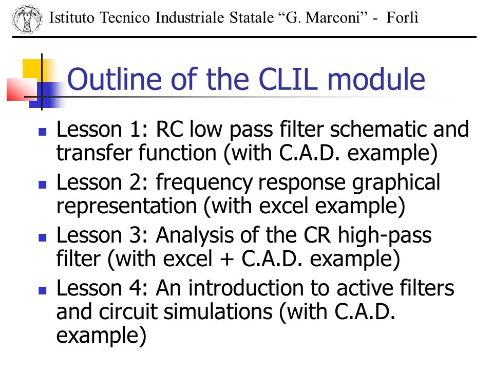 Outline of the CLIL module