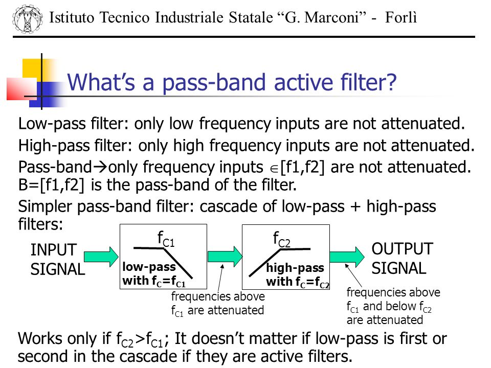 What's a pass-band active filter