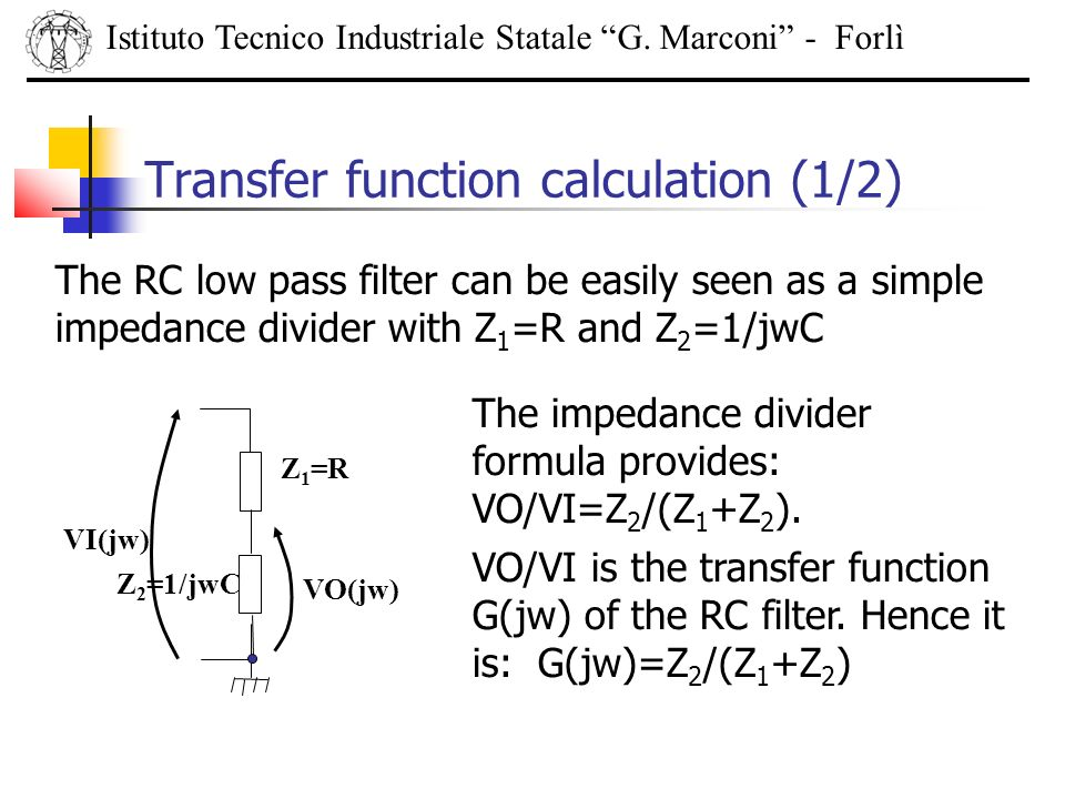 Transfer function calculation (1/2)