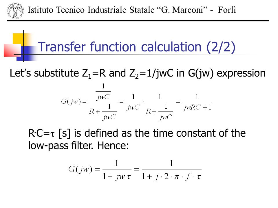Transfer function calculation (2/2)