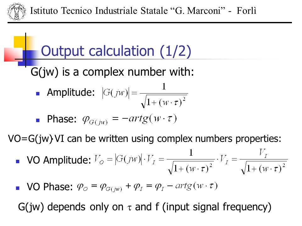 Output calculation (1/2)