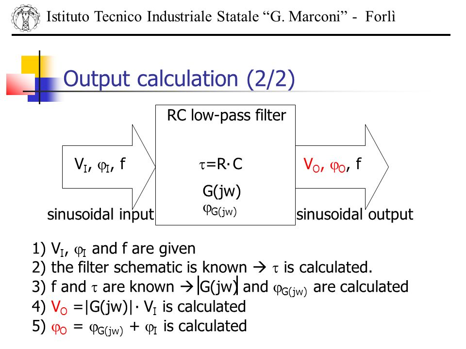 Output calculation (2/2)