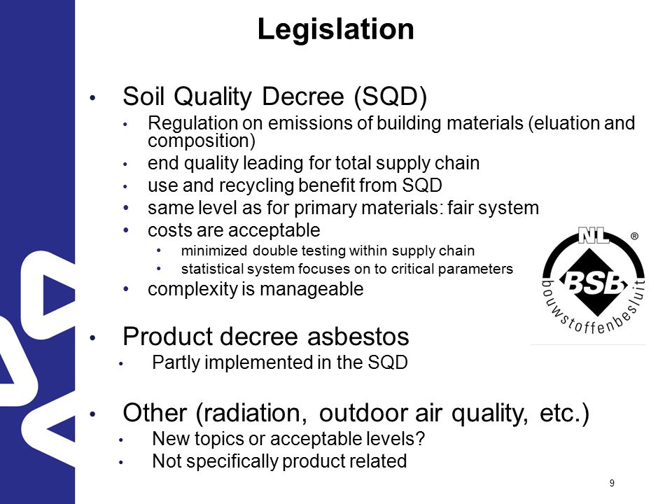 Situation in the netherlands ppt download for Soil quality parameters