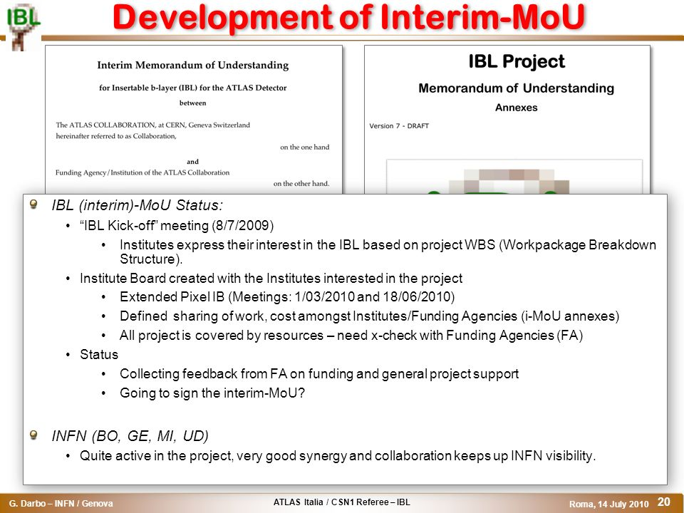 Development of Interim-MoU