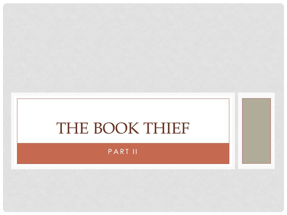 The Book Thief Part II