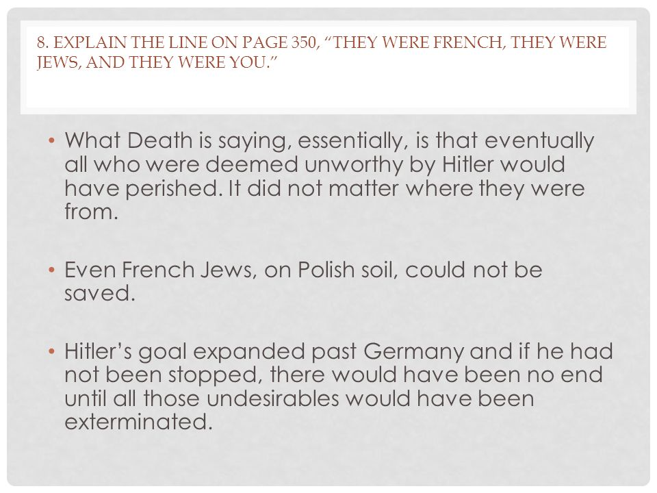 Even French Jews, on Polish soil, could not be saved.