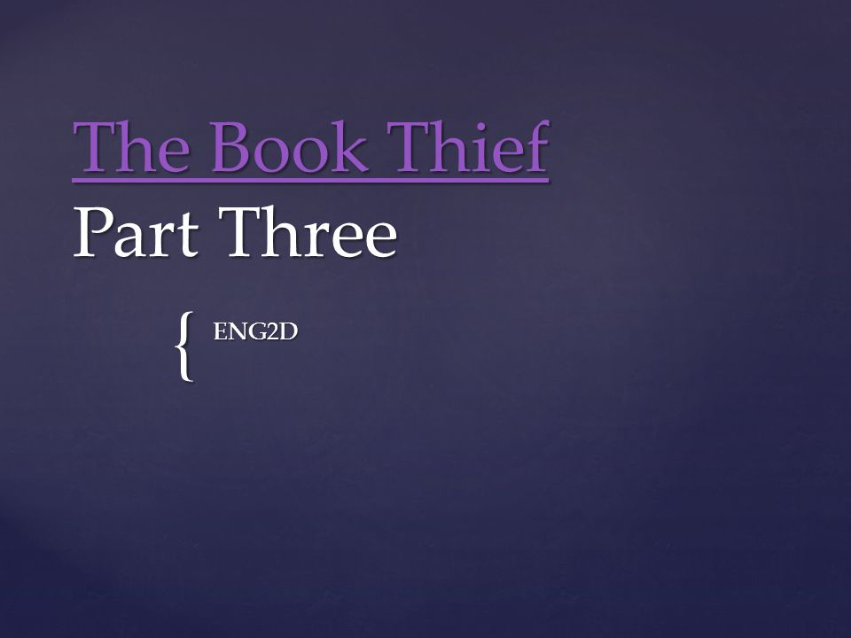 The Book Thief Part Three Ppt Video Online Download