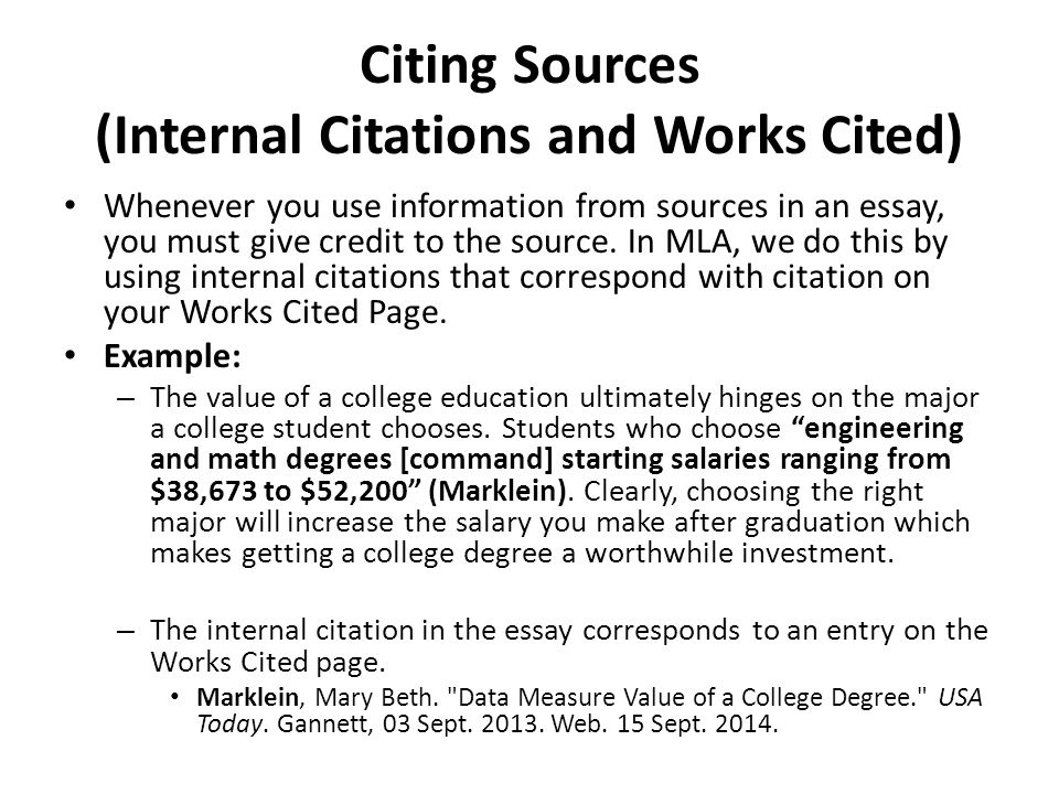 citing sources essay Mla citation within the essay 1 like citations of print sources, citations of electronic sources require available information such as author, title.