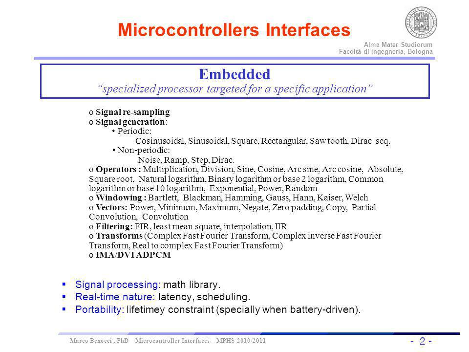 Microcontrollers Interfaces