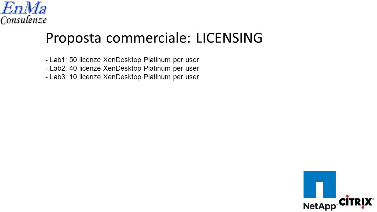 Proposta commerciale: LICENSING