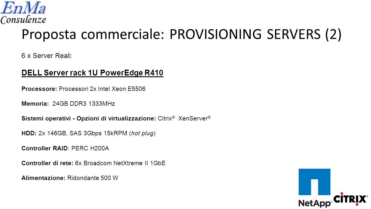 Proposta commerciale: PROVISIONING SERVERS (2)