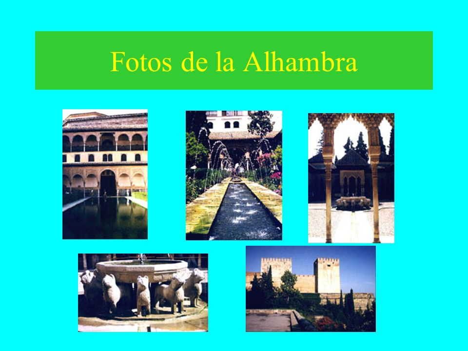 Fotos de la Alhambra