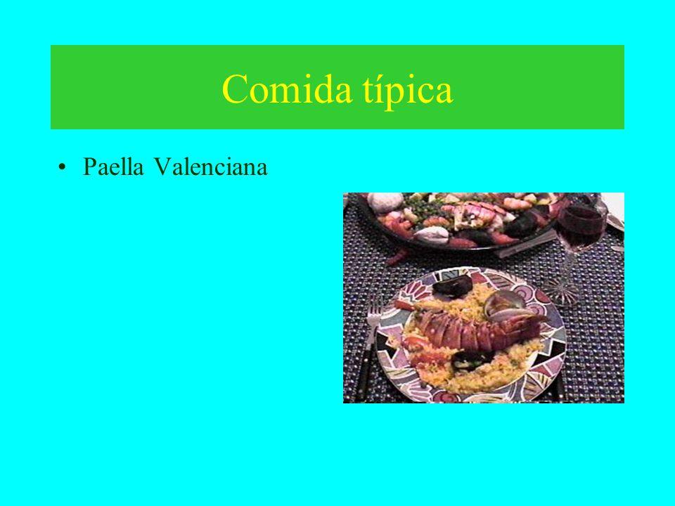 Comida típica Paella Valenciana