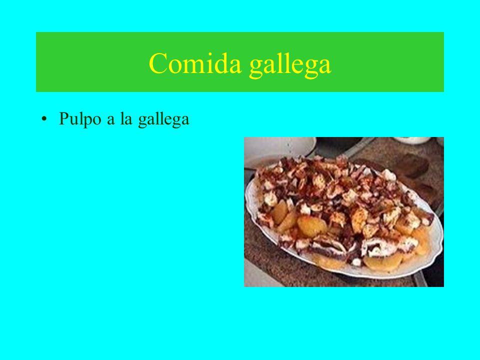 Comida gallega Pulpo a la gallega