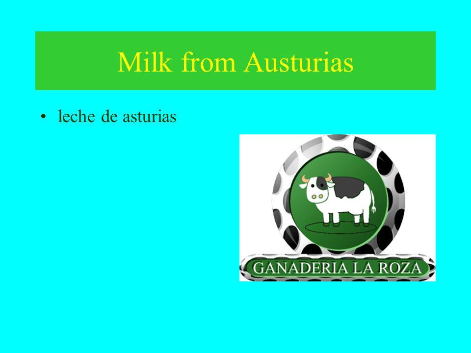 Milk from Austurias leche de asturias