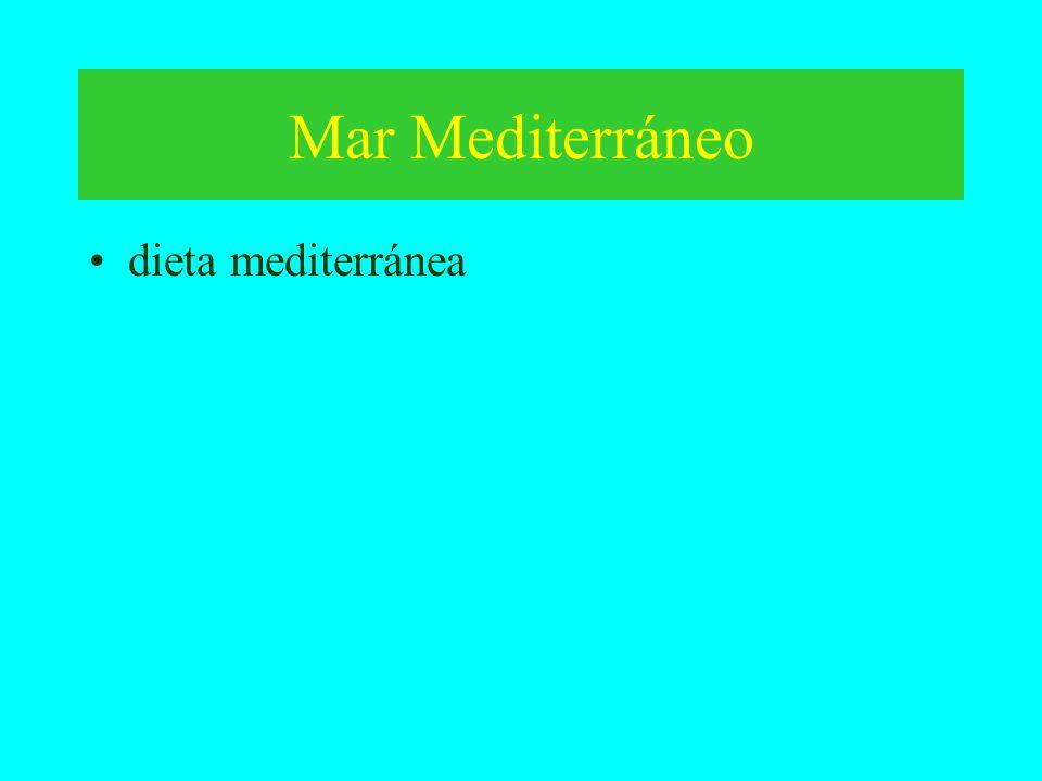Mar Mediterráneo dieta mediterránea