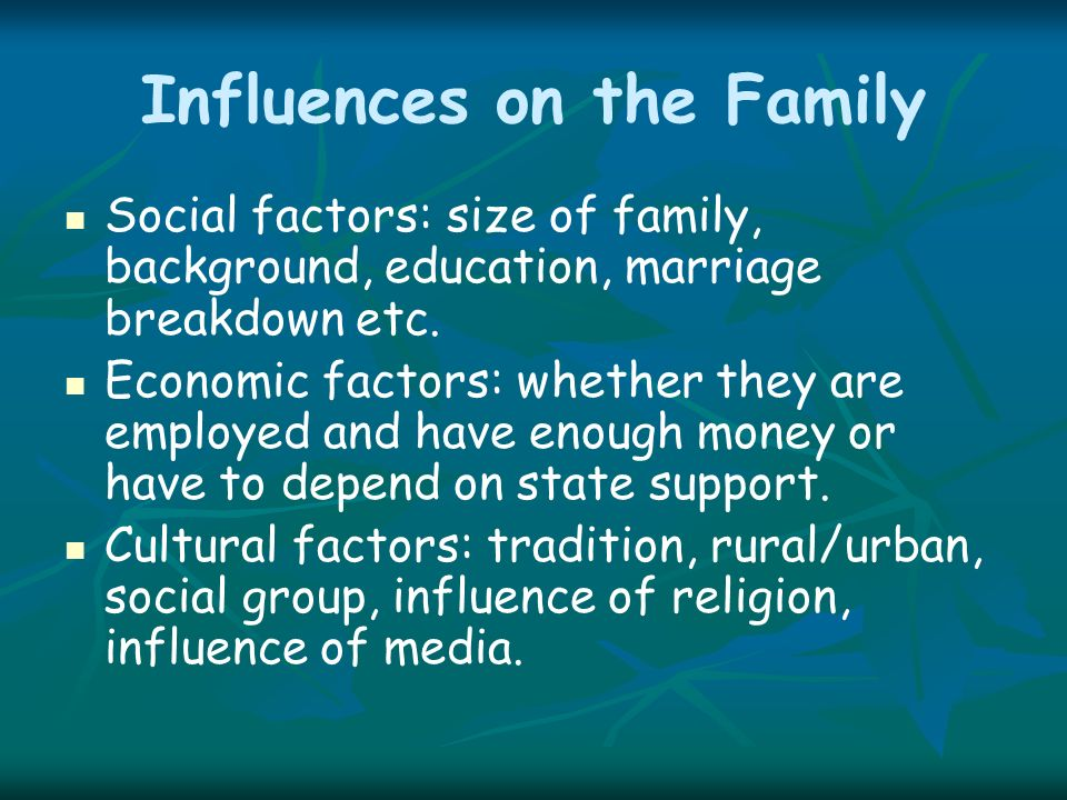 home background factors related to academic Factors affecting career choices of college students enrolled in agriculture i would also like thank my family and friends for always supporting during academic career at major than 4-h farming background and the size of schools did not play a role in choosing a major.