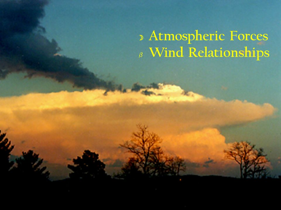 Atmospheric Forces Wind Relationships