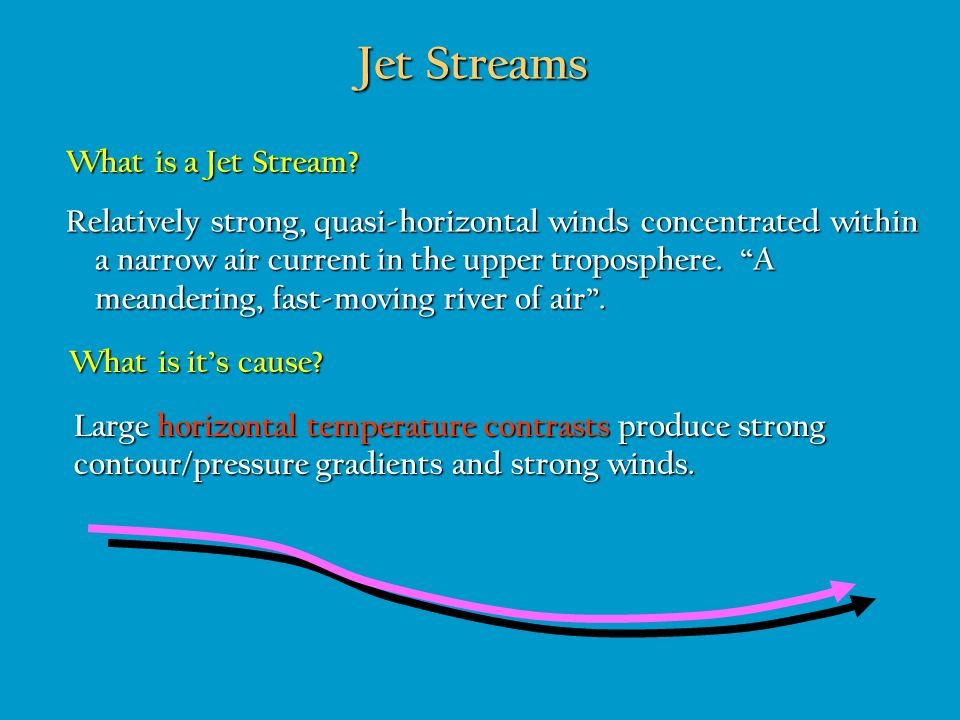 Jet Streams What is a Jet Stream