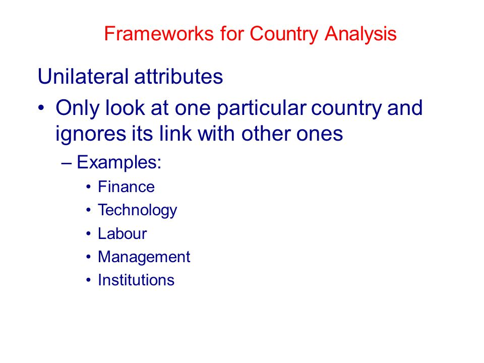 Country Analysis, Country Analyses, Countries Analysis