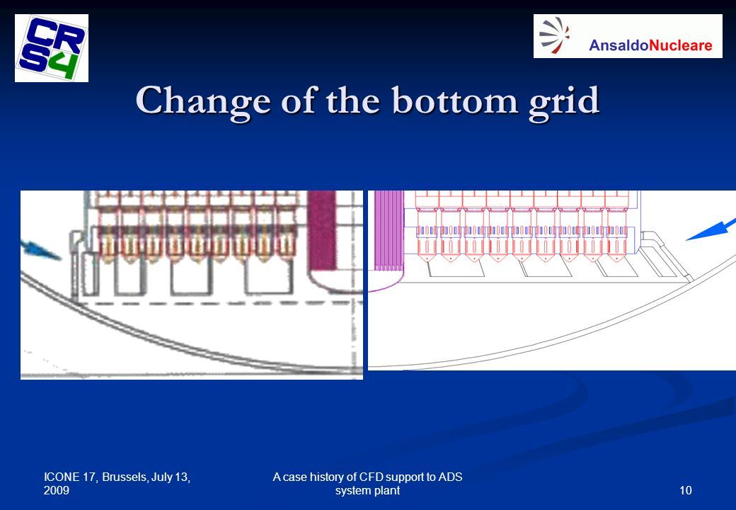 Change of the bottom grid