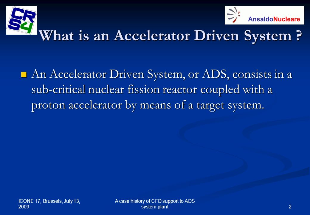 What is an Accelerator Driven System