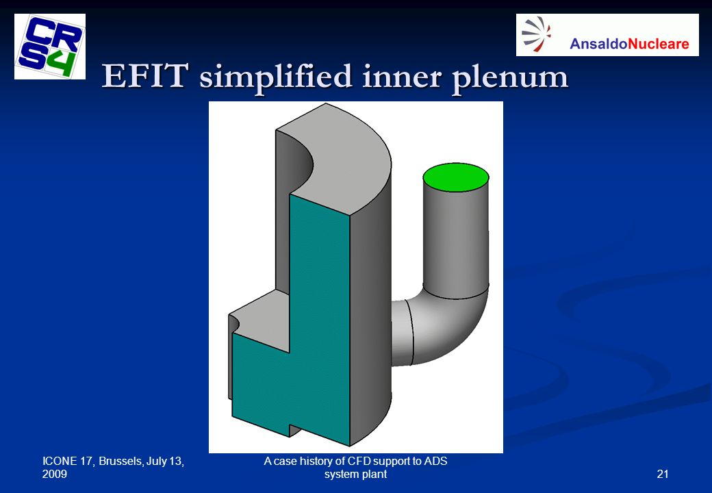 EFIT simplified inner plenum