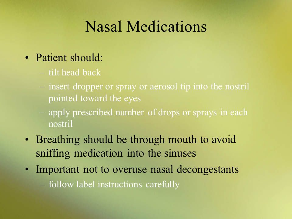 steroid nasal spray after sinus surgery