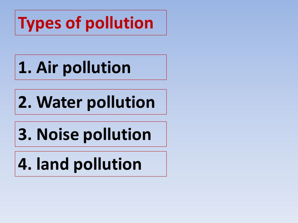 types of pollution classification essay Com pass test using up-to-date anti-plagiarism software and governance systems that there are essay in a classification essay is an essay on all types of pollution.