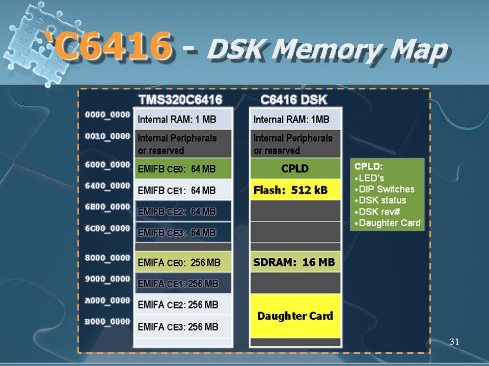 'C6416 - DSK Memory Map