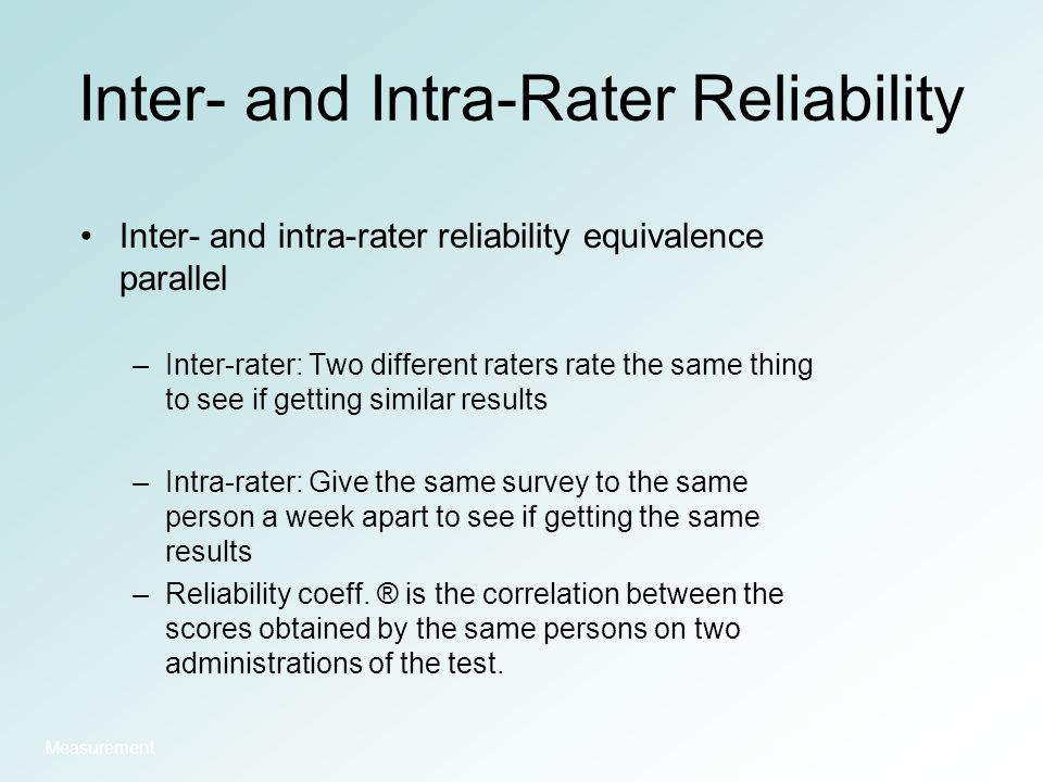 how to see reliability in results