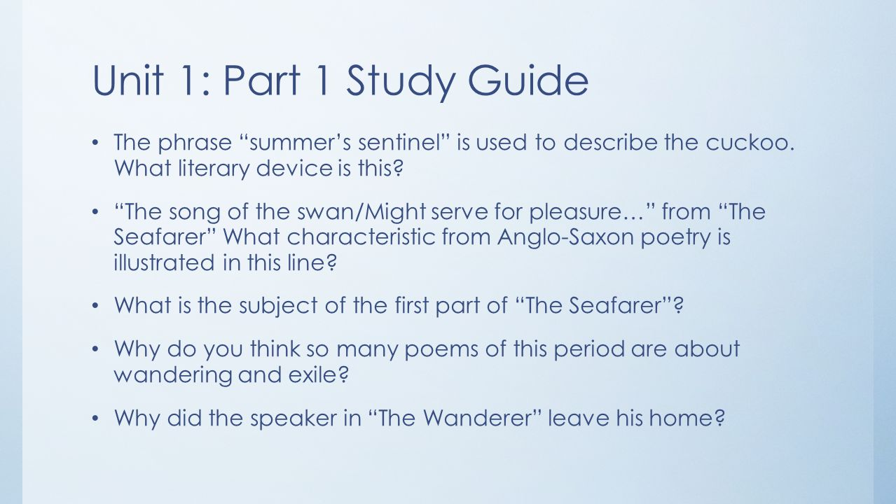 The wanderer study questions