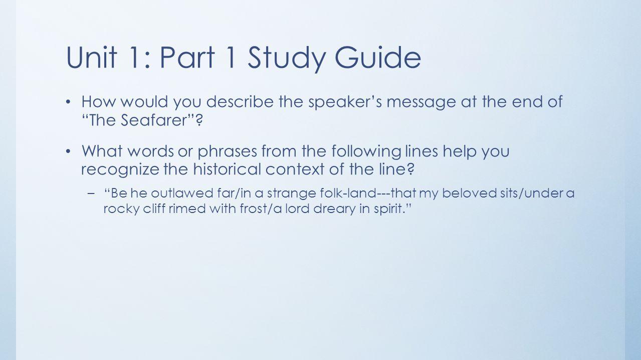 seafarer essay