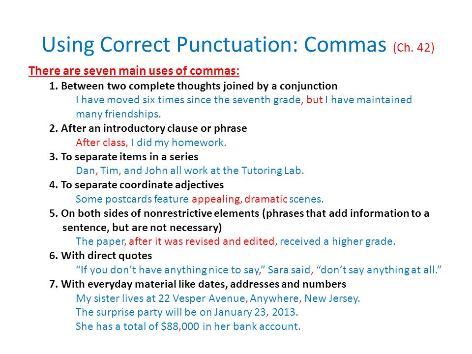 proper punctuation for essay titles Punctuation things in a series require commas: he, she, and i some teachers allow the second comma to be omitted not i it is there to avoid confusion.