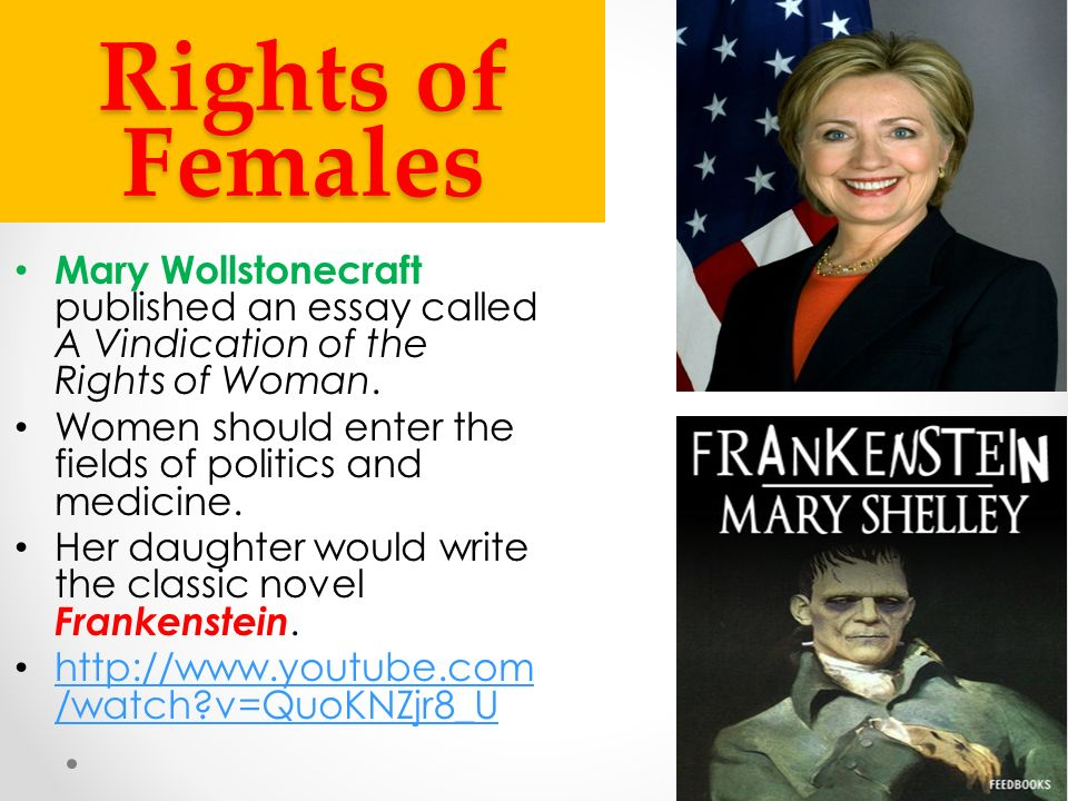 activities powerpoint ppt video online 26 rights of females mary wollstonecraft published an essay called a vindication