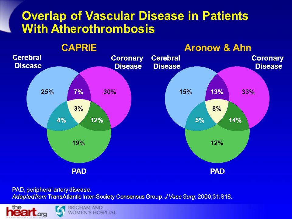 Overlap of Vascular Disease in Patients With Atherothrombosis
