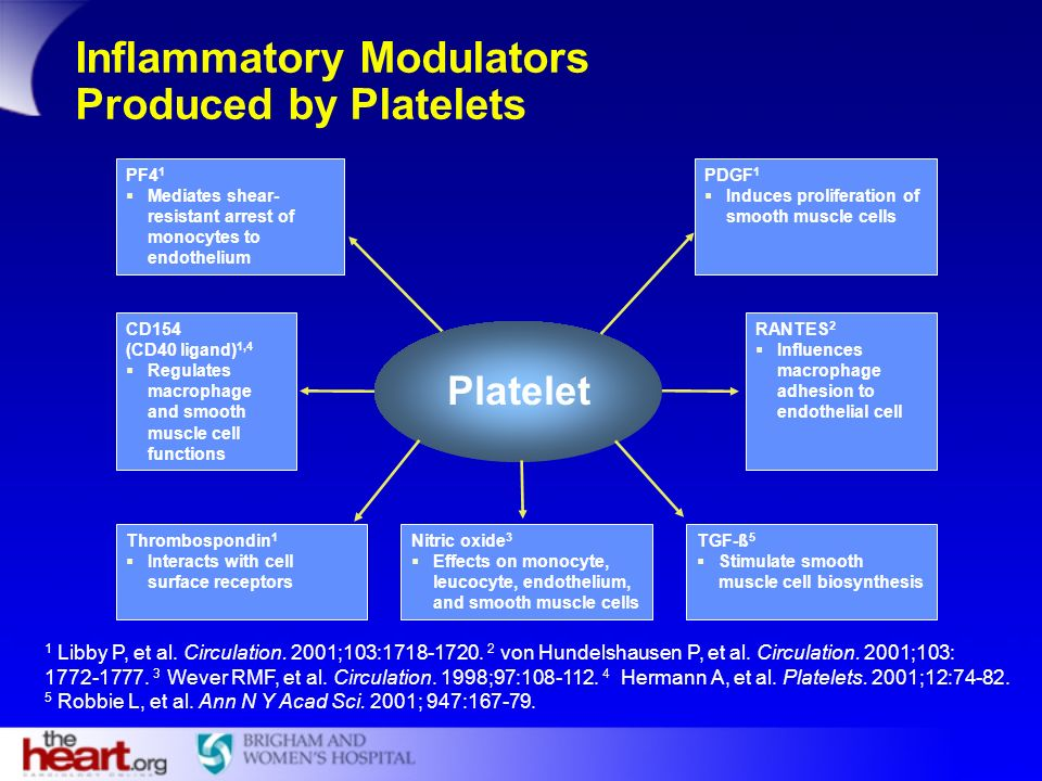 Inflammatory Modulators Produced by Platelets